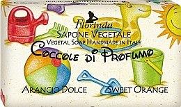 Parfémy, Parfumerie, kosmetika Přírodní mýdlo dětské Sladký pomeranč - Florinda Sapone Vegetale Orange Cake