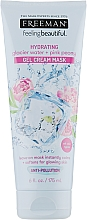 Parfémy, Parfumerie, kosmetika Gelová krém-maska Ledovcová voda a růžová pivoňka - Freeman Feeling Beautiful Gel Cream Mask