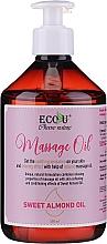 Parfémy, Parfumerie, kosmetika Masážní olej - Eco U Massage Oil Sweet Almond Oil