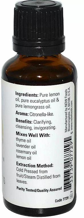 Esenciální olej Citron, eukalyptus - Now Foods Essential Oils 100% Pure Lemon Eucalyptus — foto N2