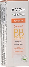 Parfémy, Parfumerie, kosmetika Tónovací BB krém 5 v 1, s extraktem papai - Avon Nutra Effects Radiance BB Cream With Papaya Extract SPF 15