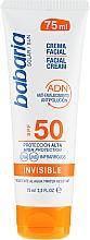 Parfémy, Parfumerie, kosmetika Opalovací krém na obličej - Babaria Invisible Facial Sun Cream Spf 50