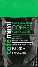 Parfémy, Parfumerie, kosmetika Pleťový a tělový peeling Káva a čokoláda - Cafe Mimi Scrub