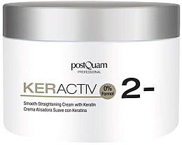 Parfémy, Parfumerie, kosmetika Keratinový krém pro vyrovnání vlasů s jemným účinkem - PostQuam Keractiv Smooth Straightening Cream With Keratin
