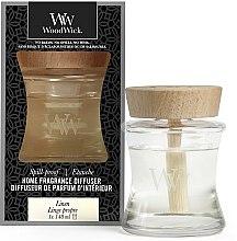 Parfémy, Parfumerie, kosmetika Aromadifuzér - Woodwick Home Fragrance Diffuser Linen