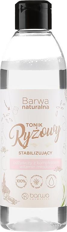Stabilizační vyživující rýžový pleťový toner - Barwa Natural