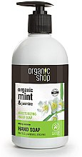 Parfémy, Parfumerie, kosmetika Hydratační tekuté mýdlo na ruce Mátový jasmín - Organic Shop Organic Aloe Jasmine and Mint Hand Soap