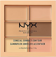 Parfémy, Parfumerie, kosmetika Paleta kerektujících prostředků na make-up - NYX Professional Makeup Palette Conceal Correct Contour