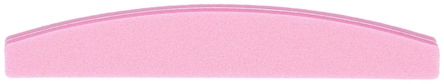 Oboustranný leštící pilnik na nehty, půlkruh 100/180, růžový - Tools For Beauty