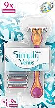 Parfémy, Parfumerie, kosmetika Holicí strojek s 9 výměnnými kazetami - Gillette Simply Venus 3