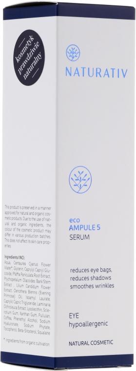 Sérum pro oblast kolem oči - Naturativ ecoAmpoule 5 Eye Serum — foto N2