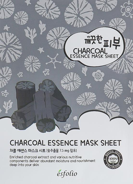 Látková maska s uhlím - Esfolio Pure Skin Essence Charcoal Mask Sheet — foto N1