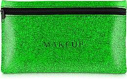 "Parfémy, Parfumerie, kosmetika Silikonová kosmetická taška, zelená ""Glitter Pouch"", 22x13cm - MakeUp"