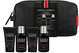 Parfémy, Parfumerie, kosmetika Sada - Baylis & Harding Signature Men's Black Pepper & Ginseng Wash Bag(hair/body/wash/100ml+a/sh/balm/50ml+face/wash/100ml+sh/gel/50ml+bag)