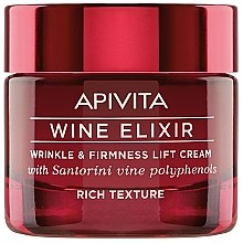 Parfémy, Parfumerie, kosmetika Krém -lifting proti vráskám s polyfenoly vína Santorini - Apivita Wine Elixir Wrinkle And Firmness Lift Cream Rich Texture