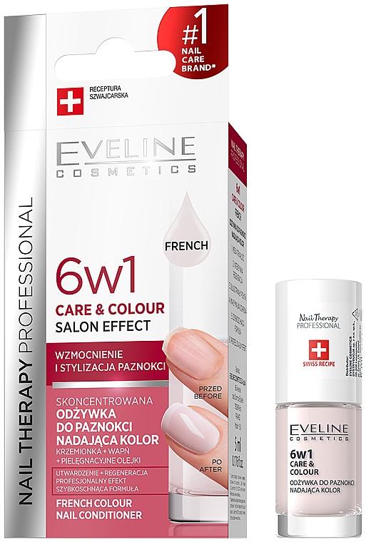 Zpevňující lak na nehty 6v1 - Eveline Cosmetics Nail Therapy Professional