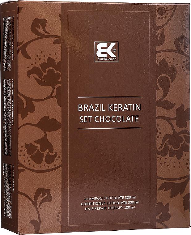 Sada - Brazil Keratin Intensive Repair Chocolate (shm/300ml + cond/300ml + serum/100ml)