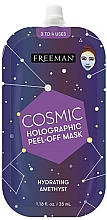 Parfémy, Parfumerie, kosmetika Hydratační holografická slupovací maska - Freeman Beauty Cosmic Holographic Peel-Off Hydrating Amethyst Mask
