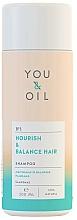 Parfémy, Parfumerie, kosmetika Šampon na vlasy Výživa a rovnováha - You&Oil Nourish & Balance Hair Shampoo