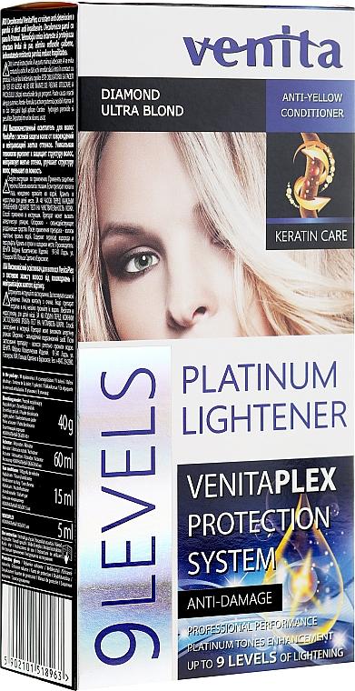 Zesvětlovač na vlasy o 9 odstínů - Venita Plex Platinum Lightener