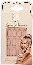 Parfémy, Parfumerie, kosmetika Sada umělých nehtů - Sosu by SJ False Nails Medium Stiletto Laura Anderson Dainty
