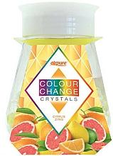 Parfémy, Parfumerie, kosmetika Gelový osvěžovač vzduchu s krystaly Energie citrusu - Airpure Colour Change Crystals Citrus Zing
