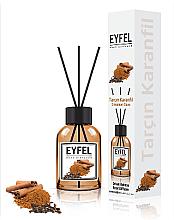 "Parfémy, Parfumerie, kosmetika Aroma difuzér ""Skořice a hřebíček"" - Eyfel Perfume Reed Diffuser Cinnamon Clove"