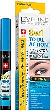 Parfémy, Parfumerie, kosmetika Korektor na obočí - Eveline Cosmetics Eyebrow Therapy 8in1 Total Action ECorrector Gradually Coloring Eyebrow With Henna