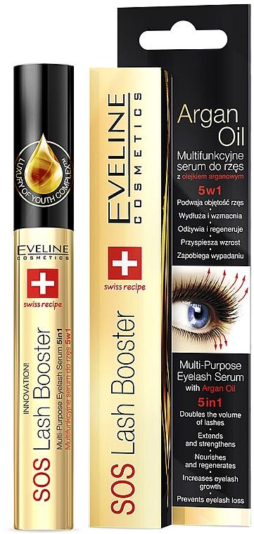 Komplexní sérum pro řasy s arganovým olejem 5 v 1 - Eveline Cosmetics Sos Lash Booster