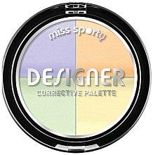 Parfémy, Parfumerie, kosmetika Korektor na obličej - Miss Sporty Designer Corrective Palette (001-Light)