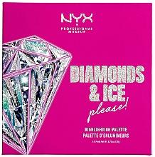 Parfémy, Parfumerie, kosmetika Paleta rozjasňovačů - NYX Professional Makeup Diamonds & Ice Please Diamond Highlighting Palette Quad