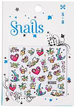 Parfémy, Parfumerie, kosmetika Nálepky na nehtový design - Snails 3D Nail Stickers