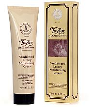 Parfémy, Parfumerie, kosmetika Hydratační krém Santalové dřevo - Taylor of Old Bond Street Sandalwood Moisturising Cream