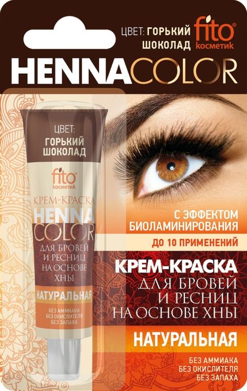 Krémová barva na obočí a řasy na základě henny - Fito Kosmetik Henna Color