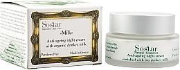 Parfémy, Parfumerie, kosmetika Noční obnovující krém na obličej - Sostar Anti-Aging Night Cream Enriched With Bio Donkey Milk