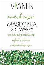 Parfémy, Parfumerie, kosmetika Normalizační maska na obličej - Vianek