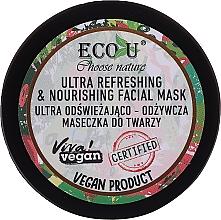 Parfémy, Parfumerie, kosmetika Ultra osvěžující a vyživující pleťová maska - Eco U Choose Nature Ultra Refreshing&Nourishing Face Mask