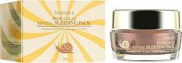 Parfémy, Parfumerie, kosmetika Noční maska s hlemýždím mucinem - Deoproce Snail Galac-Tox Revital Sleeping Pack