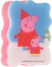Parfémy, Parfumerie, kosmetika Dětská koupelová houba Prasátko Peppa zima - Suavipiel Peppa Pig Bath Sponge
