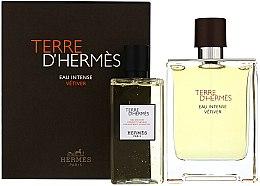 Parfémy, Parfumerie, kosmetika Terre D'Hermes Eau Intense Vetiver - Sada (edp/100ml + sh/gel/100ml)