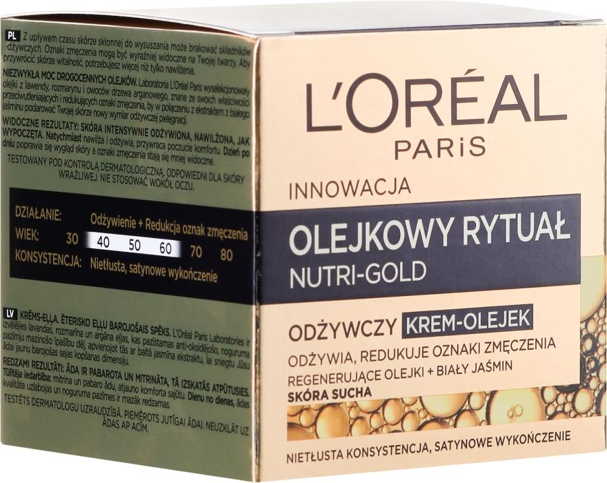 Krém-olej pro suchou plet' - L'Oreal Paris Nutri Gold Cream-Oil — foto N1