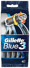 Parfémy, Parfumerie, kosmetika Sada jednorázových holicích strojků , 4ks - Gillette Blue 3