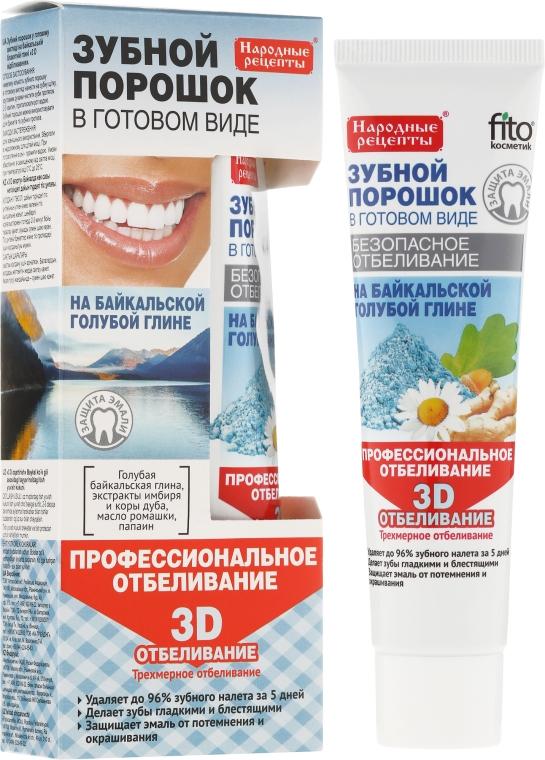 """Zubní prášek na modré bajkalské hlíně """"3D"""" - Fito Kosmetik Lidové recepty"""