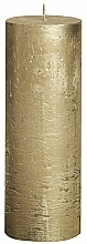 Parfémy, Parfumerie, kosmetika Svíčka Metallic Gold, 190/68 mm - Bolsius Candle