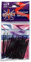 Parfémy, Parfumerie, kosmetika Vlásenky přímé 50 mm, černé, 40 ks - Ronney Professional Black Hair Pins