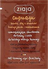 Parfémy, Parfumerie, kosmetika Samoopalovací ubrousek na obličej a tělo - Ziaja Cupuacu