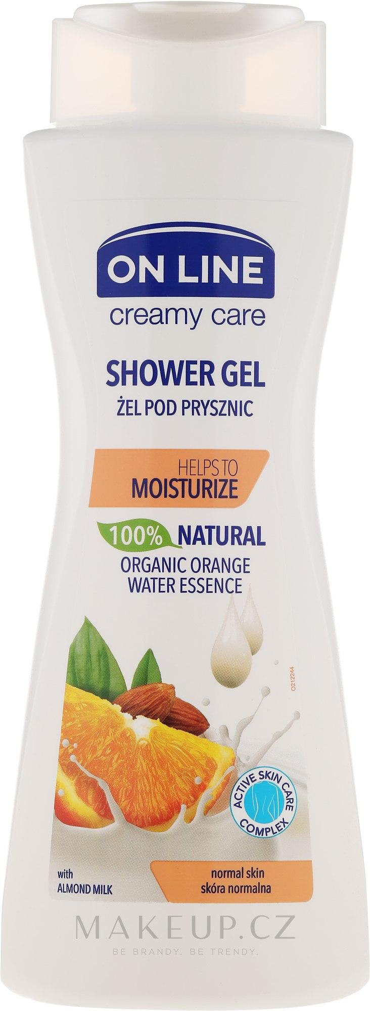 """Sprchový gel """"Pomeranč a mandle"""" - On Line Shower Gel — foto 400 ml"""