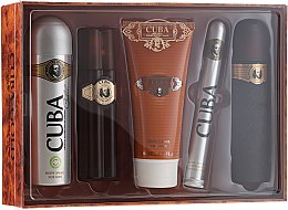 Parfémy, Parfumerie, kosmetika Cuba Gold - Sada (edt/100ml + deo/200ml + ash/balm/100ml + sh/gel/200ml + edt/35ml)