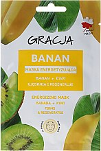 Parfémy, Parfumerie, kosmetika Energetická maska na obličej banán + kiwi - Gracja Energizing Mask