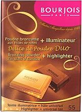 Parfémy, Parfumerie, kosmetika Kompaktní pudr na obličej - Bourjois Delice De Poudre Bronzing Duo Powder + Highlighter